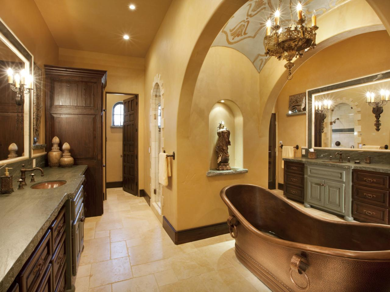 Tuscan-Style Bathrooms
