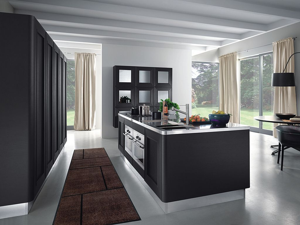 33 simple and practical modern kitchen designs for Kitchen designs black