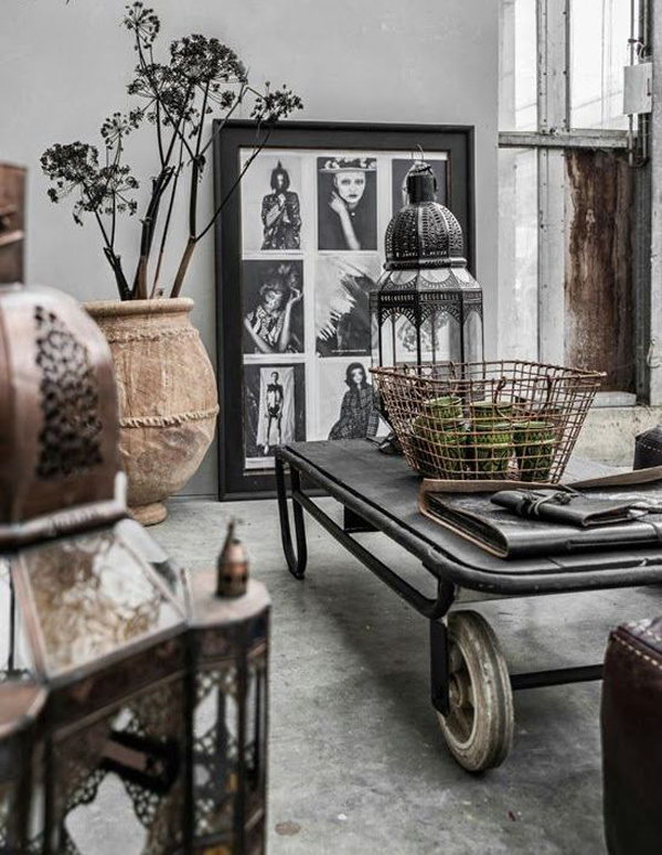 31 ultimate industrial living room design ideas for Antique decorating ideas living room