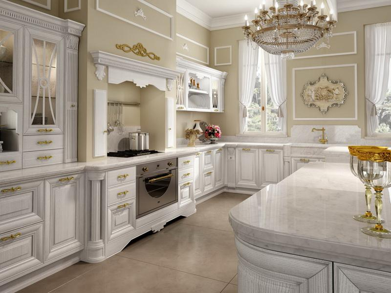 White Luxury Kitchen Design