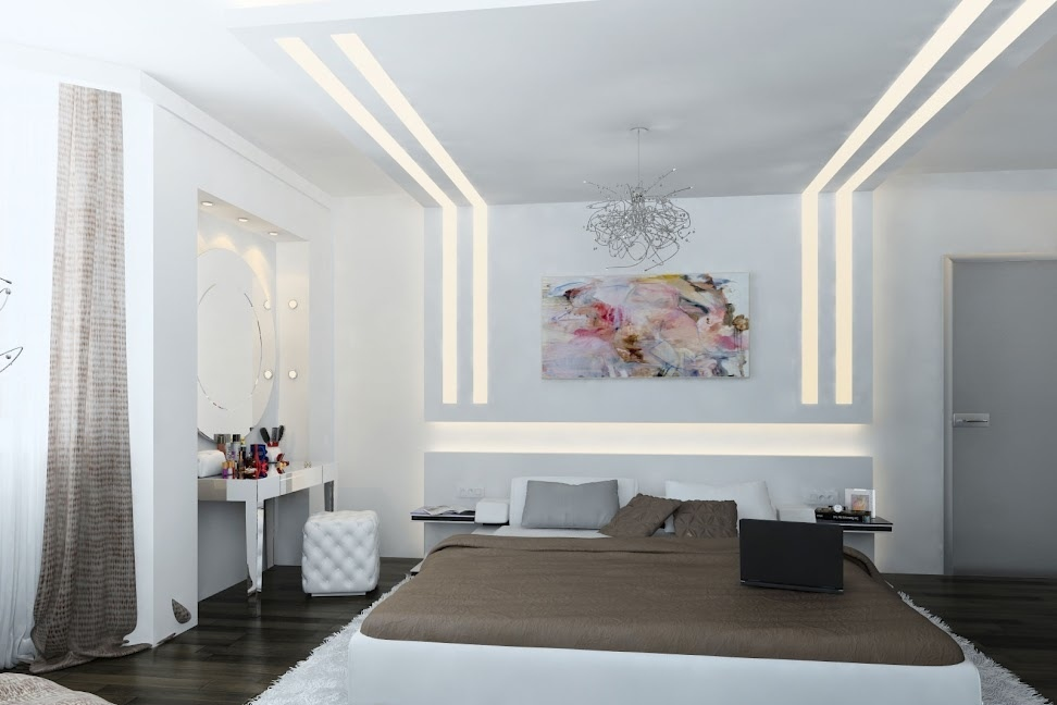 White-brown-contemporary-bedroom