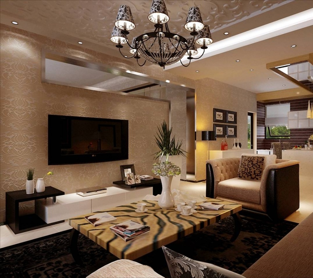 Large modern living room ideas modern house for Modern apartment living room ideas