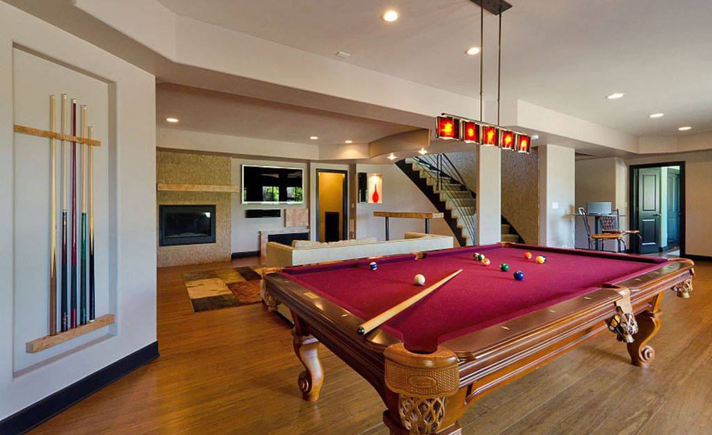 Convert your contemporary basement into livable space Basement game room ideas