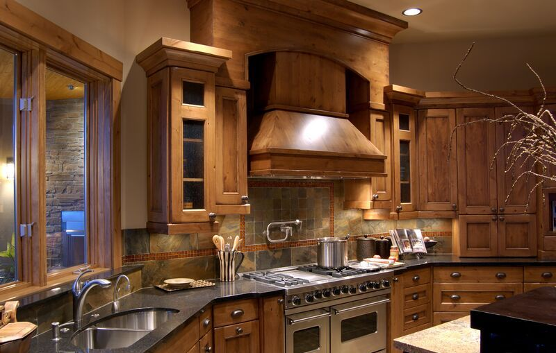 kitchen-cabinets-traditional-medium-wood-golden-brown-wood-hood-luxury
