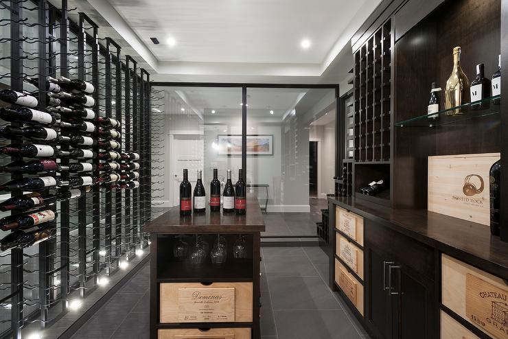 modern-basement-wine-cellar-floor-to-ceiling-wine-racks