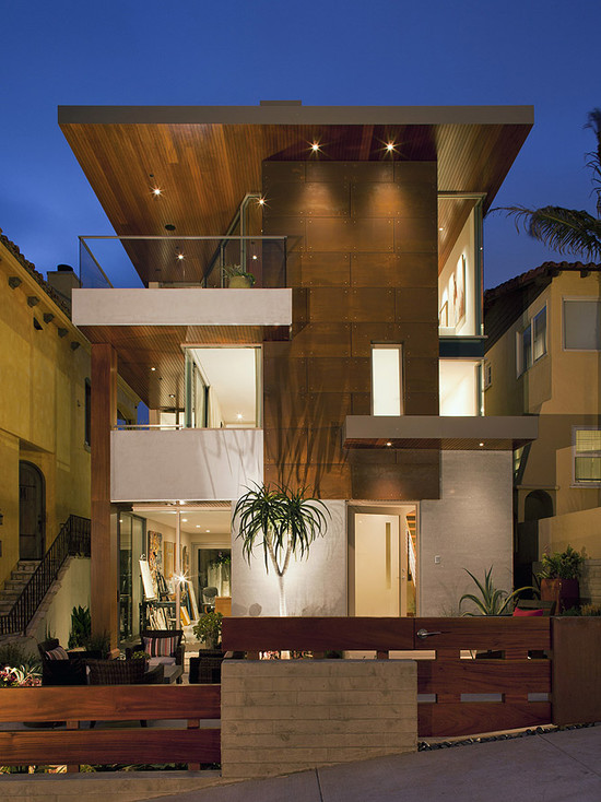 21 stunning modern exterior design ideas for Wood house exterior design