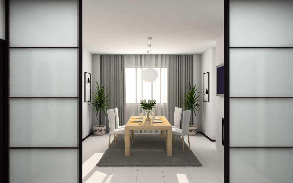 modern home dining room