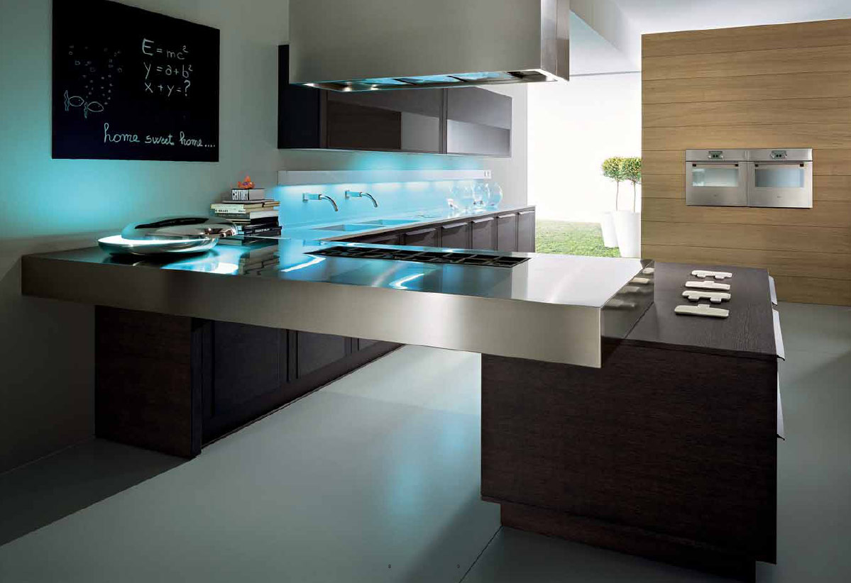 33 simple and practical modern kitchen designs for Pictures of new kitchens