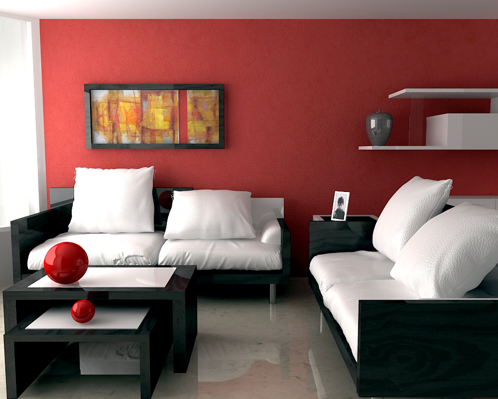 Impress guests with 25 stylish modern living room ideas for Modern living room red