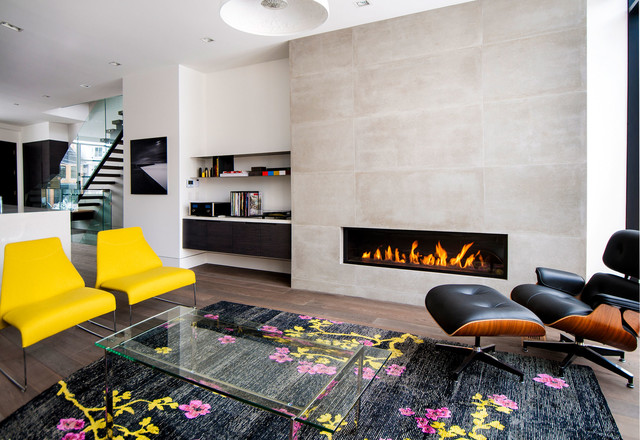 modern-living-room with unique furniture