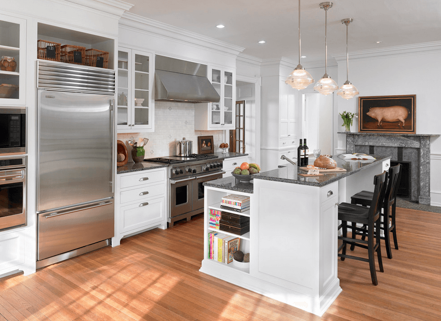 30 attractive kitchen island designs for remodeling your for Two level kitchen island