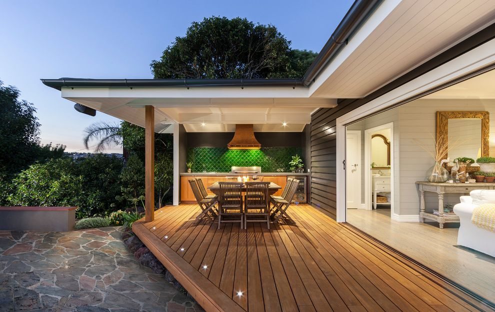 outdoor-deck-post-lighting-beach-style-deck-by-acorn-garden-houses