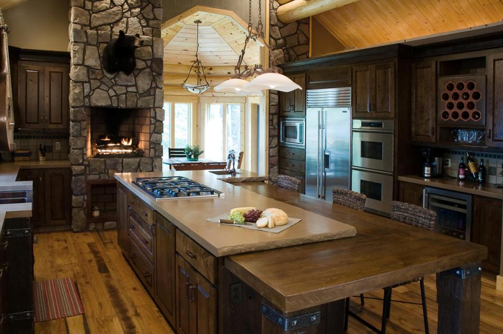 rustic kitchen designs with islands small rustic kitchen designs