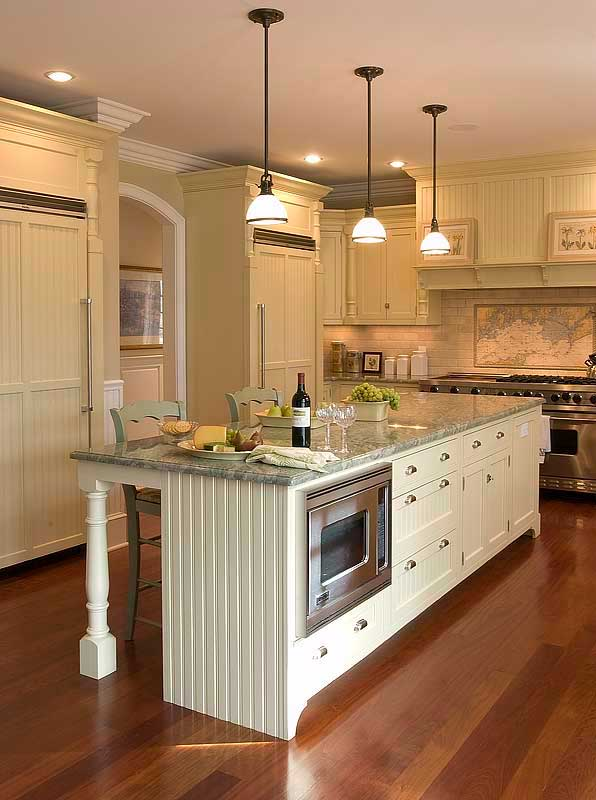 island glass lamps in rustic homemade kitchen islands make this look
