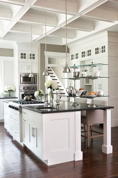 white luxury american kitchen design