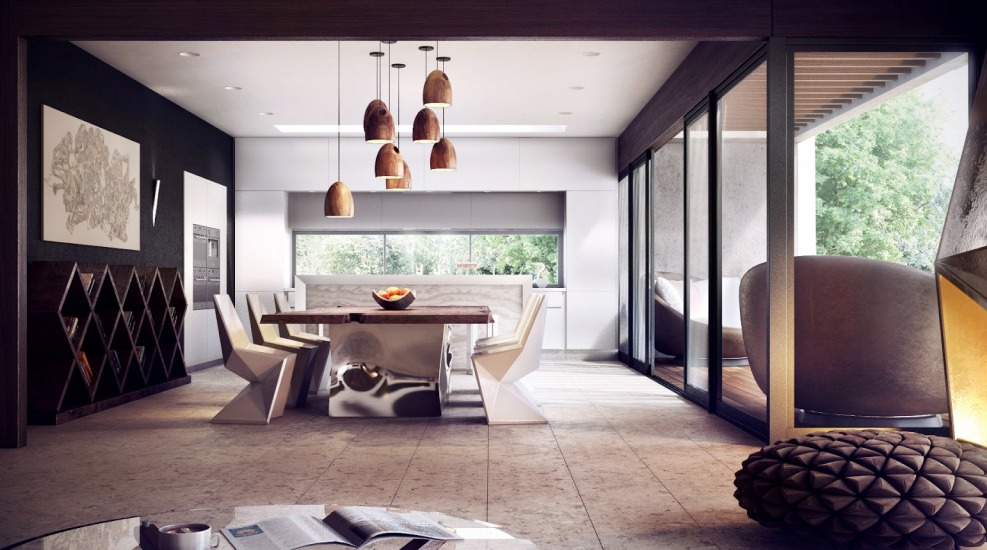 wooden-pendant-lamps-innovative-dining-room-concept-modern-interior