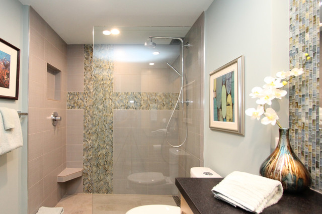 A Mid Century Modern Inspired Condo Midcentury Bathroom. Bathroom Design  Ideas