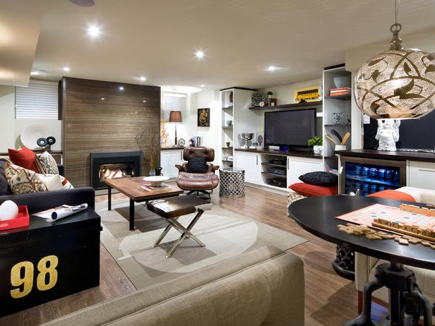 A basement space for the family