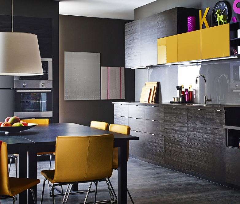 A modern dark kitchen