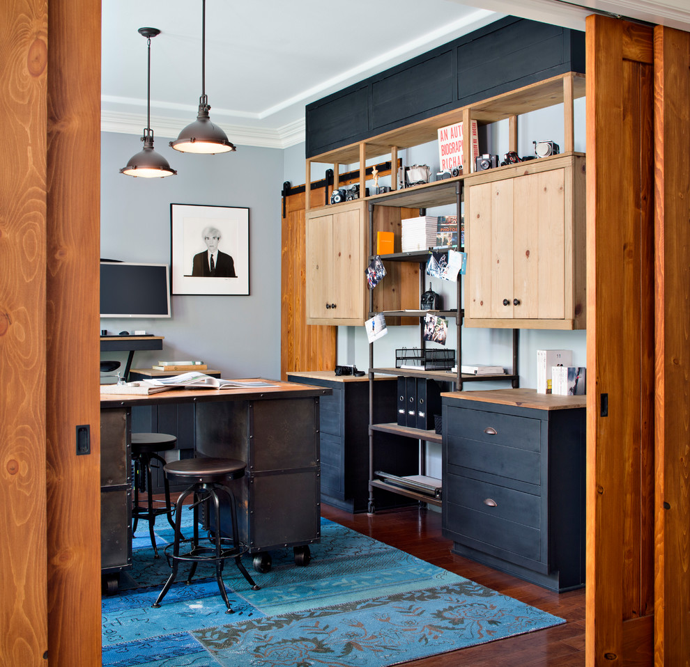 21 Best Home Office Design Ideas For Men: 27 Easy And Practical Industrial Home Office Design Ideas