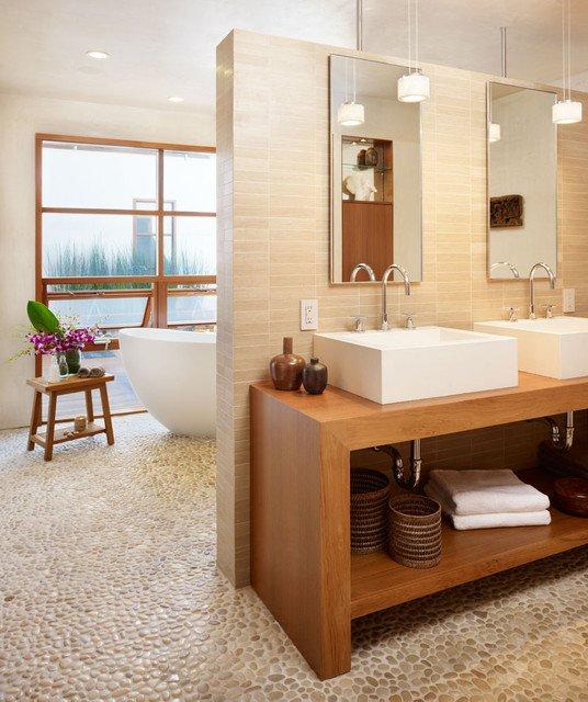 Clean Minimalist Bathroom Design