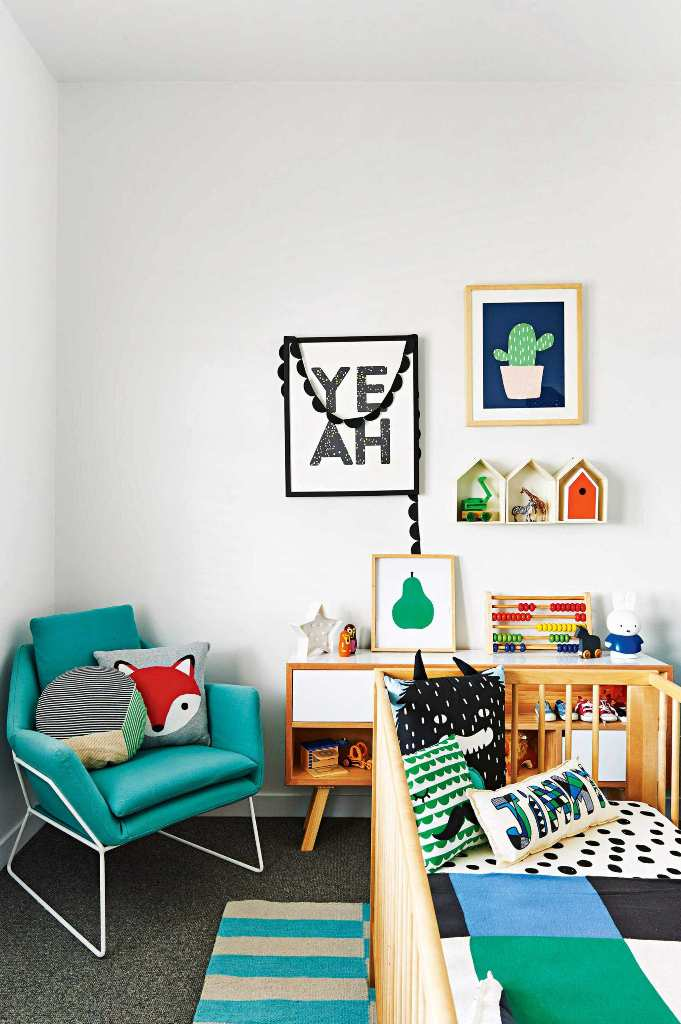 Clean and eclectic nursery