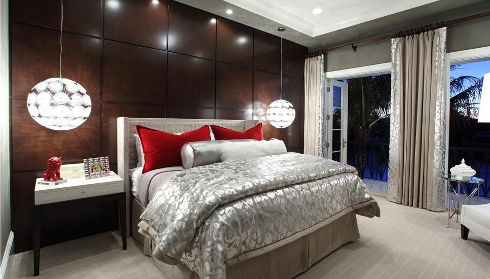Contemporary Master Bedroom with Vita Lighting