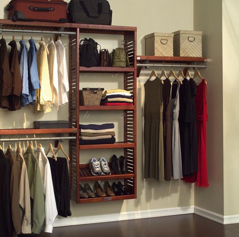 Contemporary-Wall-Mounted-Wooden-Shelving-Ideas-Open-Closet-Design