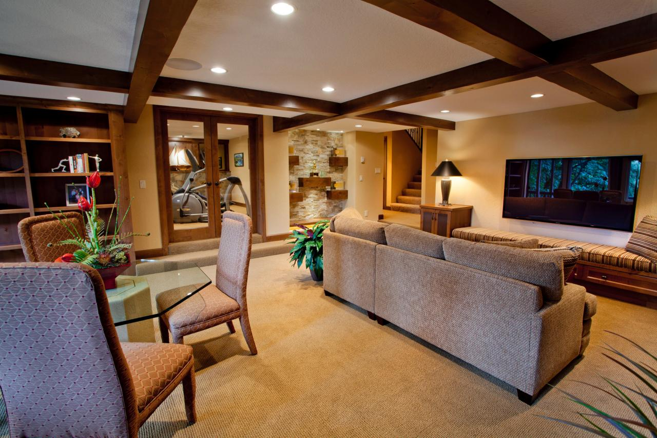 Craftsman Basement Design