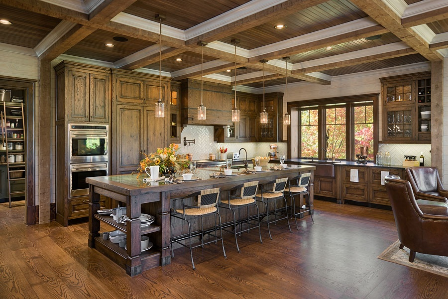 Craftsman Kitchen Breakfast Bar Design Ideas