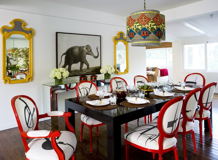 spice up your dine with best eclectic dining rooms