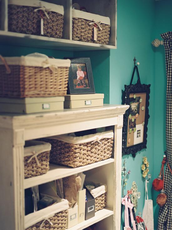 Eclectic Bedroom Baskets