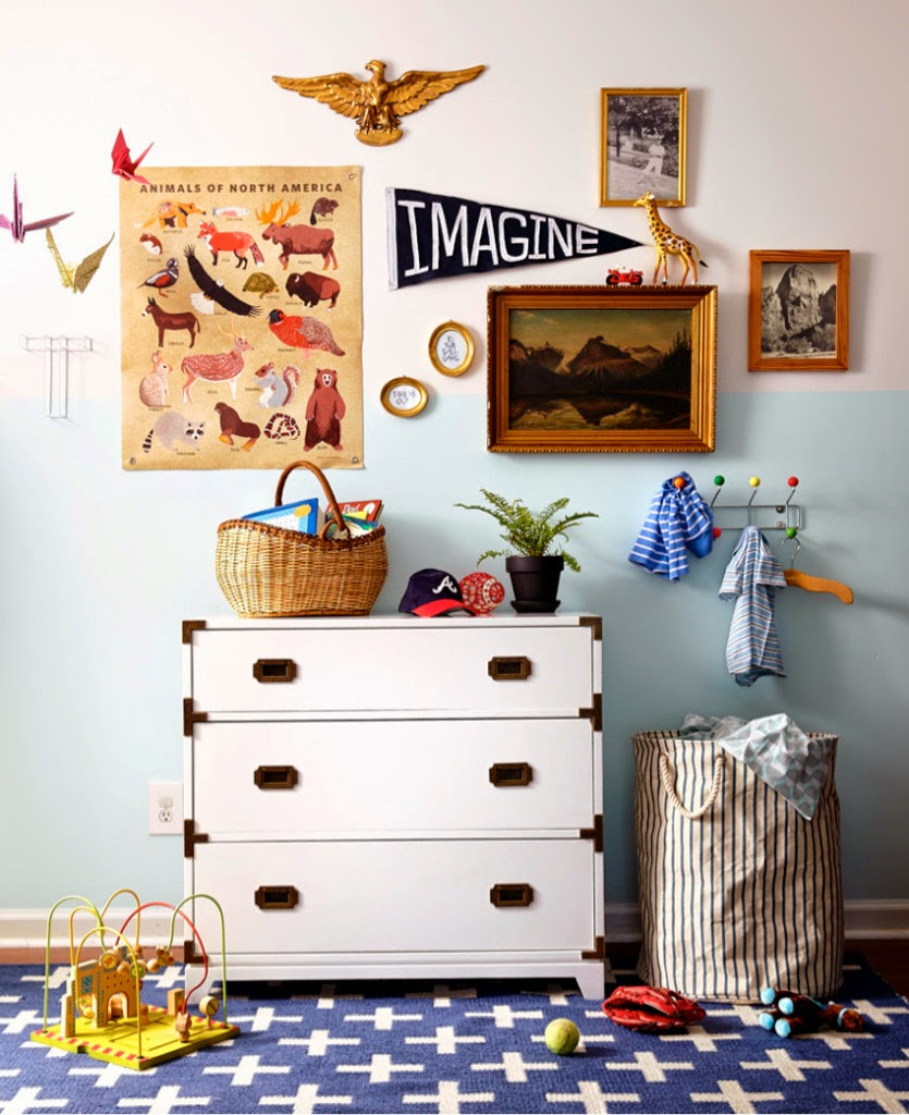 25 awesome eclectic kids room design ideas for Childrens bedroom wall designs