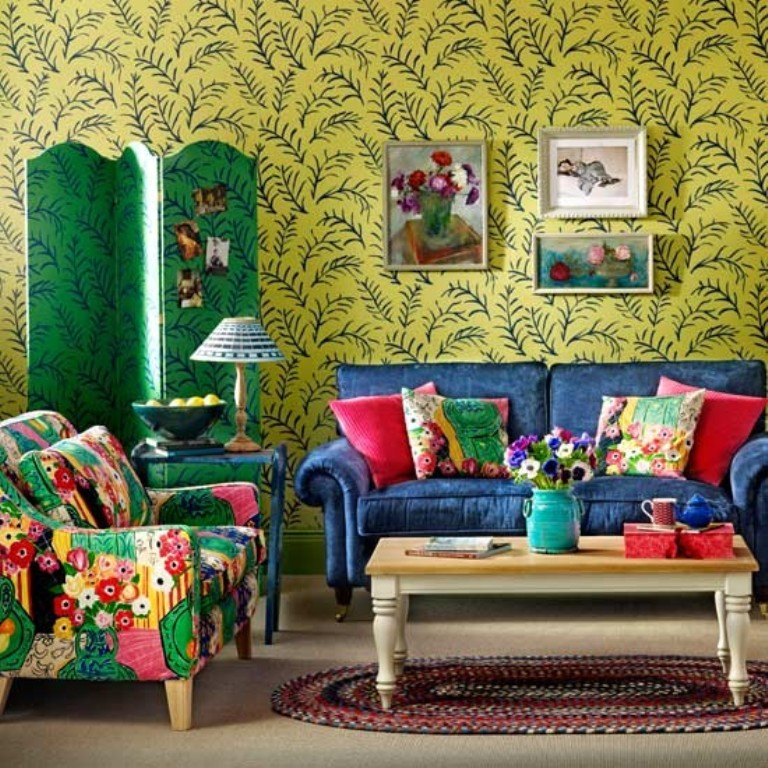 Chic Colorful Living Room: 25 Awesome Bohemian Living Room Design Ideas