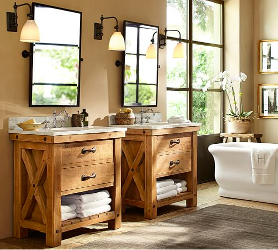 Farmhouse-Bathroom-Kensington-Pottery-Barn