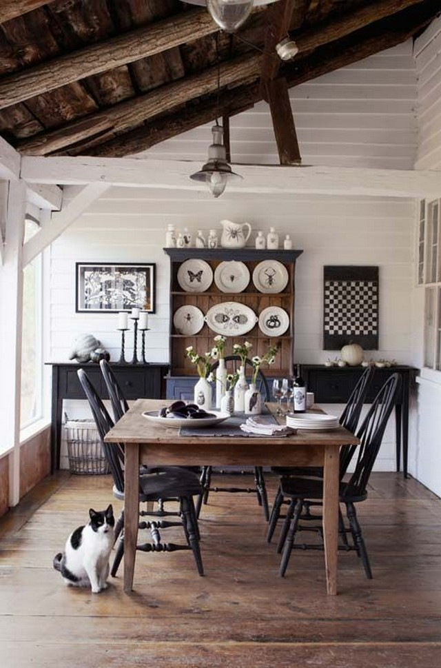 Transform your dining area with farmhouse dining for Dining room decor inspiration