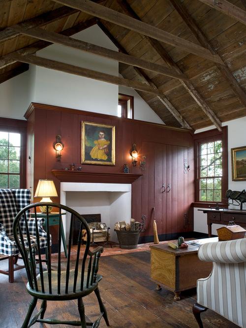 Farmhouse Living Room Home Design Ideas