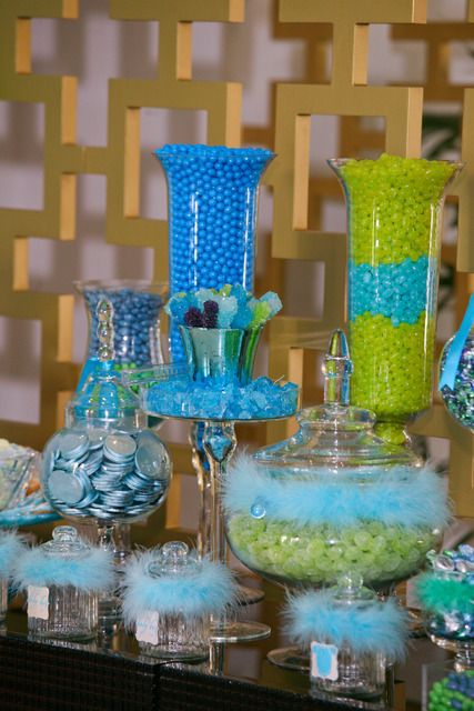 Green and Blue Baby Shower, Afternoon Tea Baby Shower Party Ideas