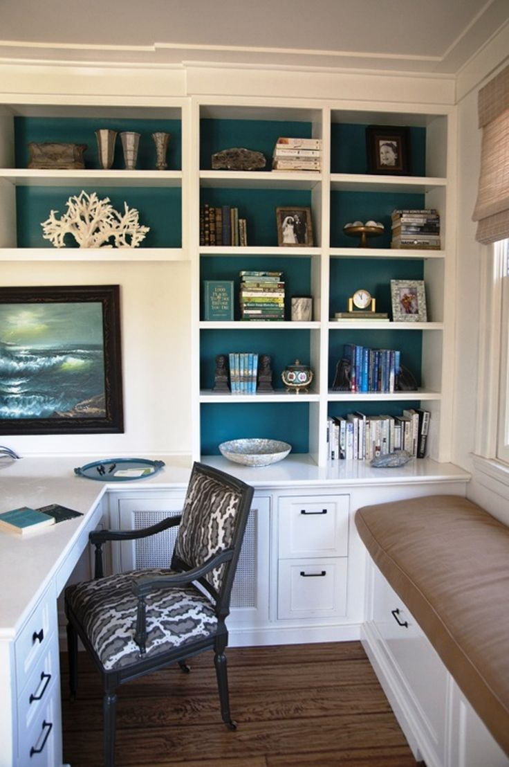 Presenting 30 beach style home office design ideas for Home office design ideas photos