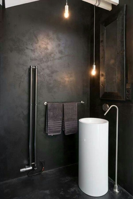 Industrial Bathroom Designs With Vintage