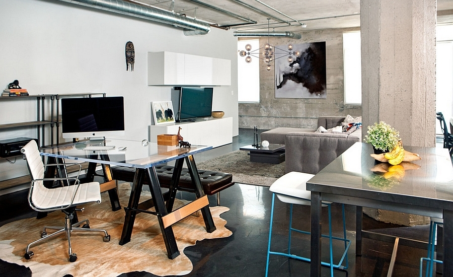 27 Easy And Practical Industrial Home Office Design Ideas