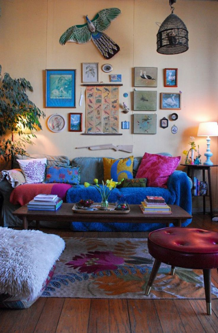 bohemian living rooms are known for their uniqueness and bright use of