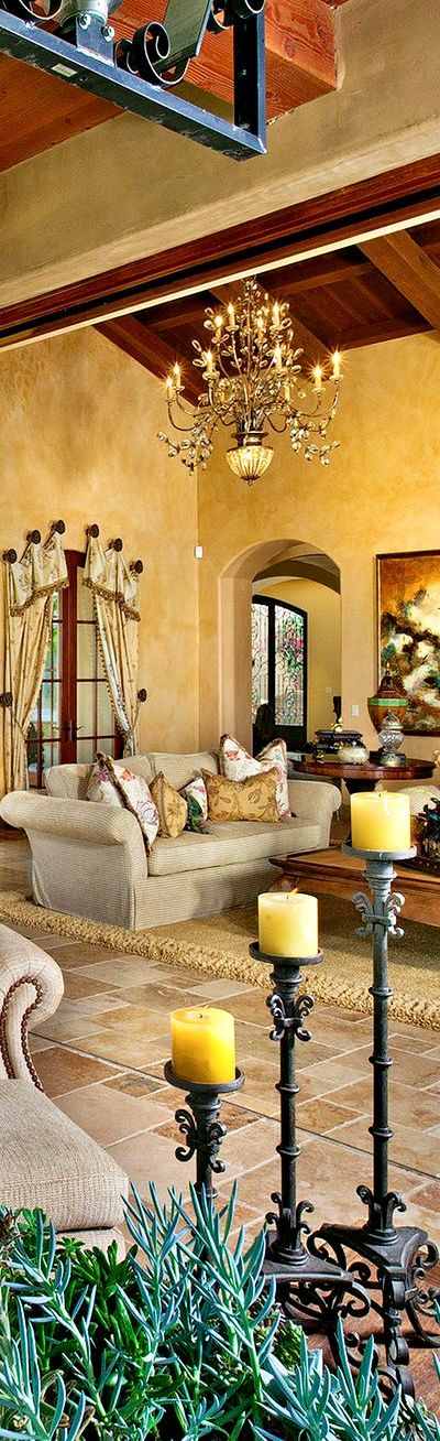 Brighten Up The Home With Mediterranean Living Room Ideas