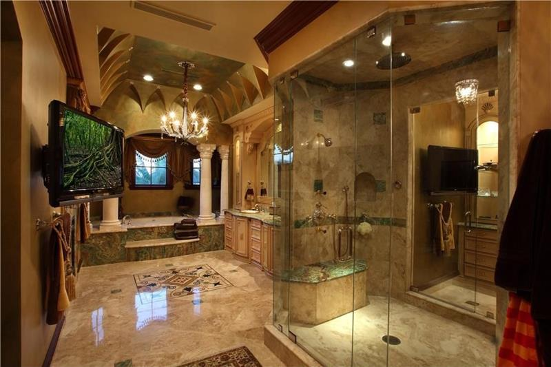 30 ways to enhance your bathroom with walk in showers for Luxury master bath designs