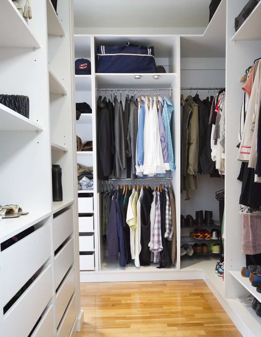 The Best Modern Walk In Closets Marvelous Oak Wood Walk In Closet In White Finishing