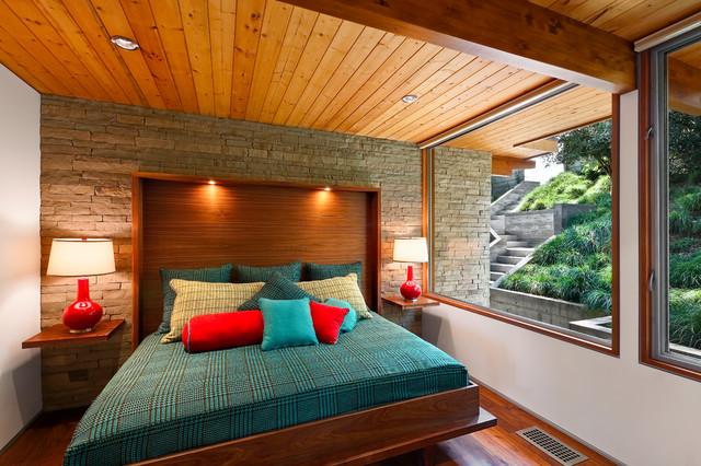 Mid-century bedroom designs