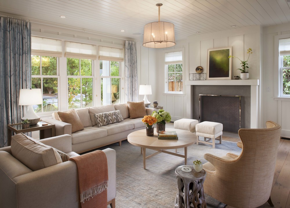 Transform your home with farmhouse living room for Pictures of living rooms