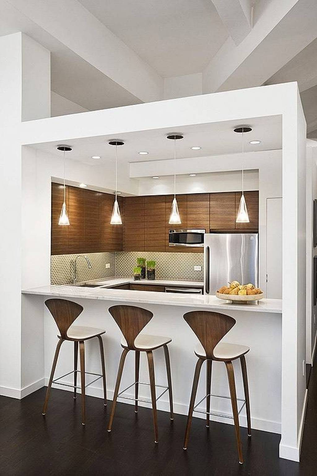 25 modern small kitchen design ideas for Cuisine ouverte bar table