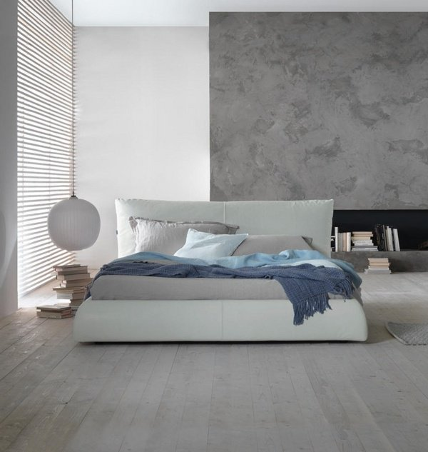 Modern bedroom with leather bed bedroom ideas for men