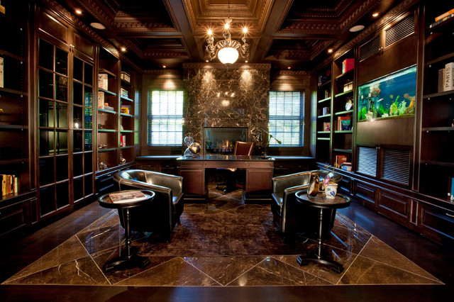 25 Traditional Home Office Designs Are Guaranteed To Love: traditional home library design ideas